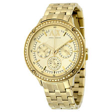 Armani Exchange Women's AX5408 'Active' Crystal Gold-tone steel Watch
