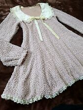 LIZ LISA Removable lace collar dress Pile knitted Lace Flared Japan Hime SizeM