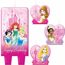 Disney Sparkle Princess Cake Candles, Cake Toppers Birthday Party Decorations