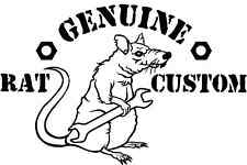 Rat Rod Decal Sticker  Genuine Rat Custom