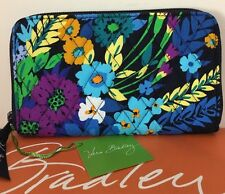 NWT Vera Bradley Accordion Wallet Iphone & Cards holder Midnight Blues