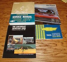 1969 Chevrolet Chevelle Service Shop Owners Manual Sales Brochure Lot of 4 69