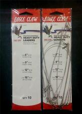 "10X EAGLE CLAW HAIRTAIL TAILOR WIRE TRACE 20LB 30LB 6""/9""/12""/18"" VALUE PACK"