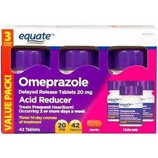 Equate Omeprazole Delayed Release Tablet 20Mg Acid ReducerNew Value Pack Siz...
