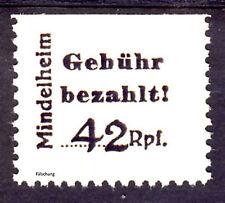 Nichtamtliche Ausgabe Mindelheim/Kirchheim Gebührenzettel Mi 2 TypA (*)Fälschung