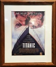 Titanic Movie Poster My Heart Will Go On Love Theme Signed Celine Dion $2K VALUE