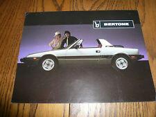 Bertone Sales Brochure/Flyer
