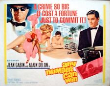 ANY NUMBER CAN WIN MELODIE EN SOUS-SOL half sheet movie poster 22x28 DELON GABIN