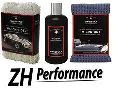SWIZÖL SWISSVAX Car Wash Kit Profi-Set mit Waschpudel, Car Bath, Micro Dry