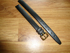 Ladies 8mm Vintage NOS LANCIA Black Calf Watch Strap,