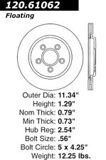 StopTech Sport Drilled/Slotted Disc fits 2000-2006 Lincoln LS  STOPTECH