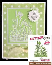 FANCY CATTAILS and BUTTERFLIES die Cottage Cutz Dies Animals,insects,flowers