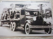 1930 'S FORD MODEL A ON FORD AA CAR CARRIER   11 X 17  PHOTO   PICTURE