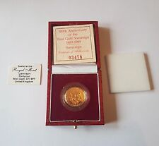 1989 sterlina in oro proof Sovereign - 500th ANNIVERSARIO TUDOR ROSE-FDC-RARE