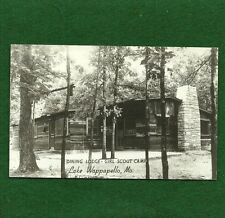 VINTAGE GIRL SCOUT CAMP RPPC - DINING LODGE - LAKE WAPPAPELLO