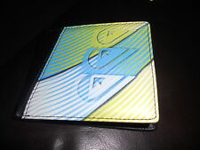 Quiksilver Mens Black / green/ blue Leather Look Wallet *BNWT* NEW