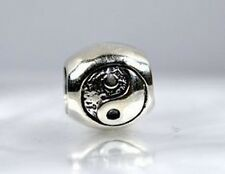 WOW new Sterling Silver 925 BEAD jewelry Chinese Ying Yang