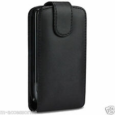 BLACK FLIP CASE POUCH PU LEATHER COVER FOR SAMSUNG GT-I9000 GALAXY S MOBILE