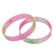 100Pcs Wholesale Colorful Rubber Silicone Band Wristband Bracelets Lots L