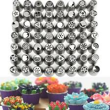 56Pcs Russian Flower Icing Piping Nozzles Tips Cake Decorating Baking DIY Kit