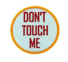 Patch toppe toppa ricamate termoadesiva moto vintage biker don't touch me