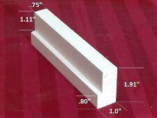 """plantation shutter component L frame small primed basswood 75"""" (1 PC)"""