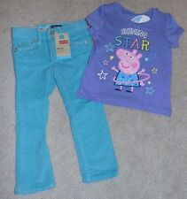~NWT Girls LEVI'S & PEPPA PIG Outfit! Size 2T Super Cute! FS:)