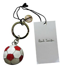 Paul Smith 3D METAL FOOTBALL Keyring RED / WHITE , Brand New