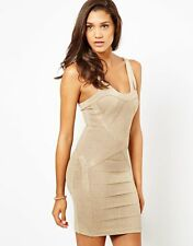 Stunning Lipsy BNWT Gold Glitter Bodycon Bandage Size 12 14 Dress Party Xmas