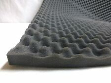 "Convoluted Egg Shape Foam 1.5"" x 55"" x 82""(HxWxL) Charcoal Grey For Studio"