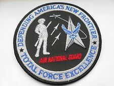 RAF/USAF cloth patch AIR NATIONAL GUARD DEFENDING AMERICAS NEW FRONTIER