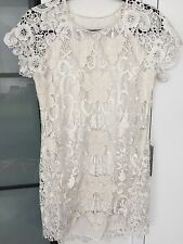 Rare CHALK White Lace Argentine Dress Size 2 Revolve. As Seen On Kendall Jenner!