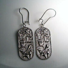 14k Solid White Gold Lucky Items Earrings #E338