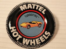 Vintage original Hot Wheels Turbofire metal collectors badge from 1968