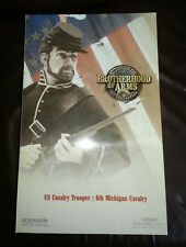 "Sideshow Brotherhood of Arms nos caballería de la guerra civil 6TH Michigan Trooper 12"" Nuevo"