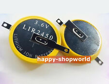 1 x New Rechargeable Tabbed LiR2450 3.6V Coin Cell Battery 2 solder 180° Tabs