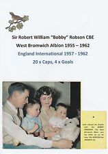 BOBBY ROBSON WEST BROMWICH ALBION 1955-1962 RARE ORIG SIGNED ANNUAL CUTTING