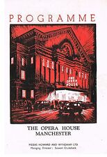 Theatre Programme. Kiss me Kate. Opera House. Manchester. 1952. Lionel Blair.