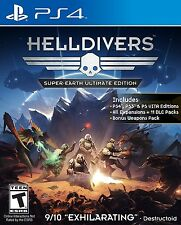 PLAYSTATION 4 PS4 GAME HELLDIVERS SUPER EARTH ULTIMATE EDITION BRAND NEW