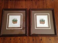 Bailey Tidwell Original Signed Limited Edition Etching Herb Baskets Framed