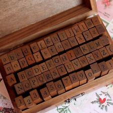 Wooden Number AlPhaBet Digital And Letters Seal Stamps 70 Pcs Per Set Anglais
