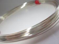 Plata Esterlina 925 de la mitad de alambre redondo 21gauge 0,72 mm Suave 5 Pies