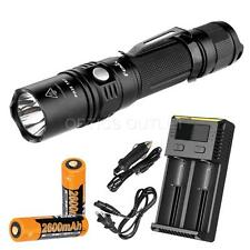 Fenix PD35TAC 2015 1000 Lumen LED Flashlight w/  Smart Charger & 2x Fenix 18650