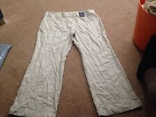 M&s Stone Smart Linen Mix Pants Trousers Size 20 Medium BNWT  Sameday Free P&p