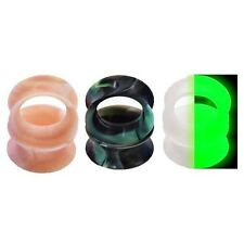 3Pairs Silicone Thin Flesh Tunnels-Ear Gauge Strecher Body Expanders 10mm