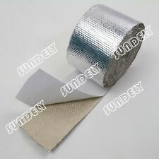 "Adhesive Backed Heat Shield Wrap Tape For Car Intake Intercooler Pipe 2"" x 15'"