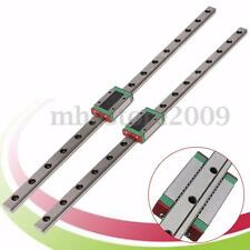 2pcs MGN12 12mm 400mm Linear Rail Guide Slider W/ Mini MGN12 Block Carriage Set