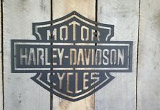Harley Davidson Motorcycle metal wall art Home decor rustic man cave Garage
