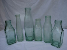 6x VINTAGE ANTIQUE OLD GLASS PRESERVE JARS BOTTLES WEDDING FLOWERS