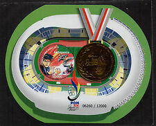 INDONESIA 2016-5 NATIONAL SPORT WEEK ODD SHAPED SS SOUVENIR SHEET ROUND STAMPS